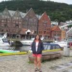 bergen limanı bryggen tarihi ahşap evler