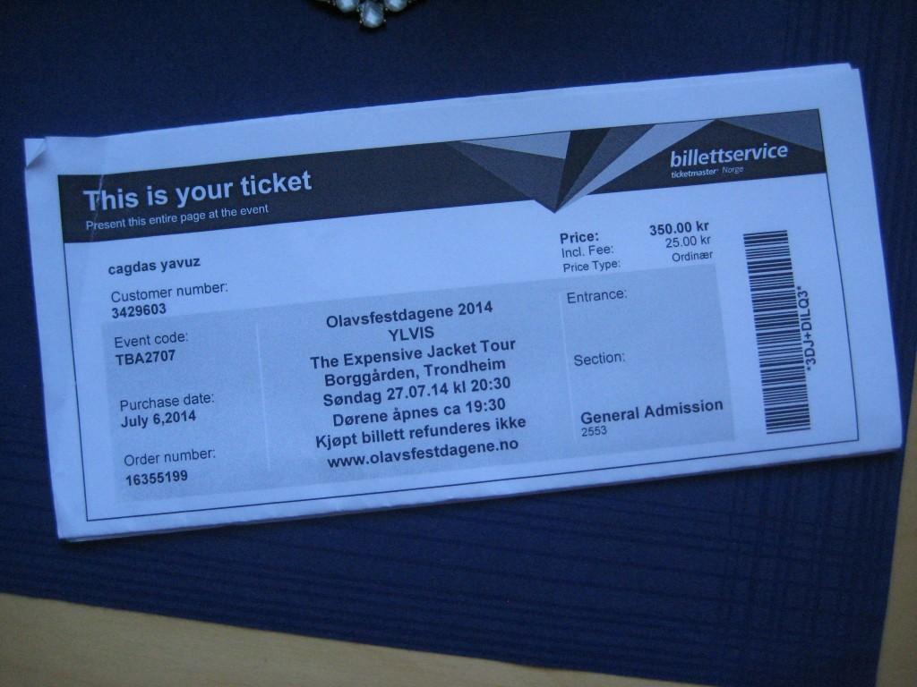 expensive jacket tour ticket trondheim